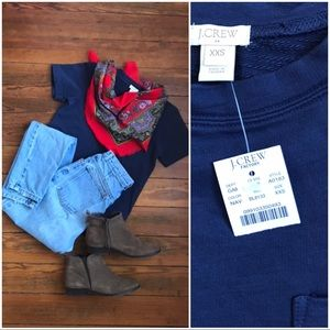 NWT thick knit navy tee SOLD OUT